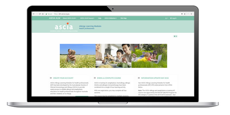 ASCIA Allergy Learning Modules for health professionals